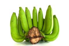 Banana em um fundo branco Foto de Stock