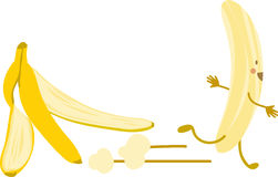 Banana Escape Royalty Free Stock Photography