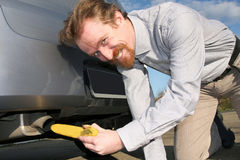 Banana and exhaust Royalty Free Stock Photography