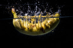 Banana falls in to water Stock Photography