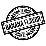 Banana Flavor rubber stamp. Grunge design with dust scratches. Effects can be easily removed for a clean, crisp look. Color is easily changed Royalty Free Stock Image