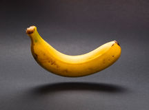 A banana floating in the air Stock Photography