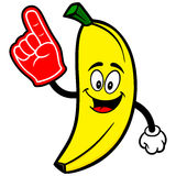 Banana with Foam Finger Stock Photo