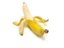 Banana fresca descascada Foto de Stock