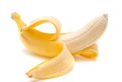 Banana fresca no fundo branco Imagens de Stock Royalty Free
