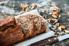 Banana Fresh Loaf Multigrain Organic Bread Rustic Royalty Free Stock Images