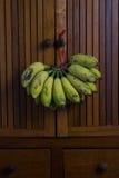 Banana. Fresh banana on wood background royalty free stock photos