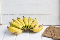Banana. Fresh banana on wood background stock photo