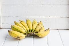 Banana. Fresh banana on wood background stock image
