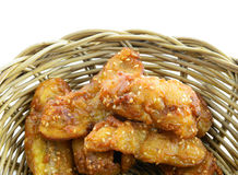 Banana fried. In basket , Thailand snack Royalty Free Stock Photography