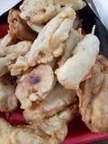 Banana fritada Imagens de Stock