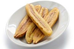 Banana fritta del plantano immagini stock