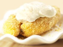 Banana fritters Stock Photos