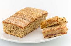 Banana fruit cake Stock Photos