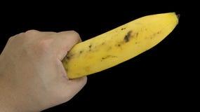 Banana fruit hand body part Royalty Free Stock Photos