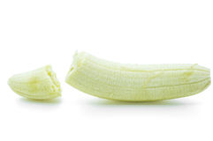 Banana fruit open isolated Royalty Free Stock Image