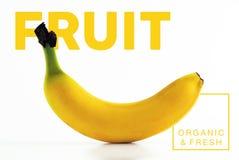 Banana fruit organic and fresh food poster Royalty Free Stock Photos