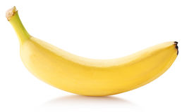 Banana fruit over white. File contains clipping paths stock photo