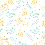 Banana fruit seamless pattern background vector format Royalty Free Stock Photo