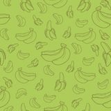 Banana fruit seamless pattern background vector format Stock Image