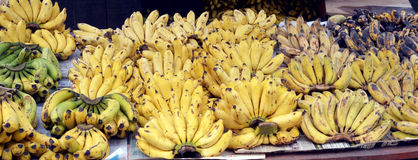 Banana Fruit Shop. And in local market Royalty Free Stock Image
