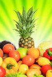 Banana fruits. Fresh Vegetables, Fruits and other foodstuffs. Shot in a studio Royalty Free Stock Photography