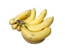 Banana fruits. Isolated over white background Stock Photos