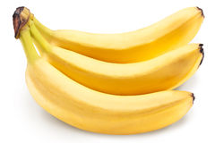 Banana fruits over white. Stock Photo
