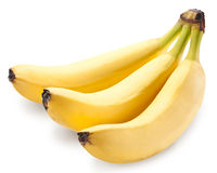 Banana fruits over white. Stock Images