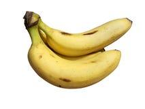 Banana fruits yellow isolated stock image