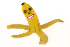 Banana ghost peel Royalty Free Stock Images