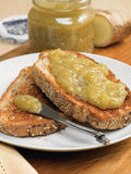 Banana ginger jam on toast Royalty Free Stock Photography