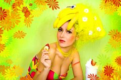 Banana girl Royalty Free Stock Photography