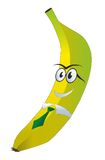Banana with glasses and a tie. Banana in glasses and tie with a smile Stock Images