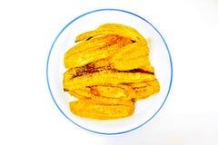 Banana glazed with sugar Stock Images