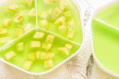 Banana green jelly Stock Photography