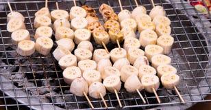 Banana grill Royalty Free Stock Photo
