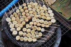 Banana grill , Thai dessert Stock Photos