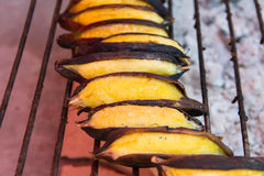 Banana grilled Stock Images
