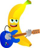 Banana guitar player Royalty Free Stock Photo