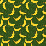 Banana hand drawn sketch Seamless Pattern. Vector Illustration Royalty Free Stock Photos