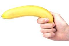 Banana in hand Royalty Free Stock Photo