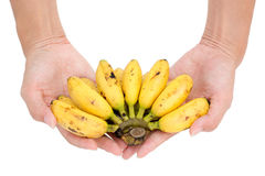 Banana in hand Royalty Free Stock Images