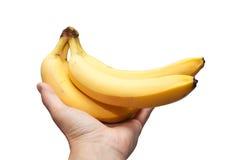 A banana in his hand Stock Photos