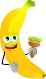 Banana holding a paint brush Stock Photography