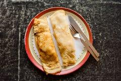 Banana honey pancakes Stock Images