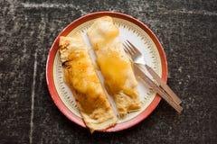 Banana honey pancakes Stock Photos
