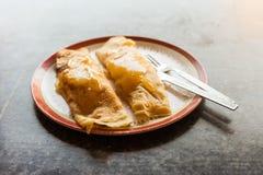 Banana honey pancakes Stock Photography