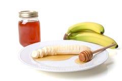 Banana With Honey Stock Photography