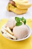 Banana ice cream Royalty Free Stock Photography